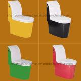 Courroie de rinçage de Siphonic de toilette en céramique d'une seule pièce de couleur (A-012)