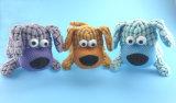 Brinquedo do cão de animal de estimação do luxuoso de Brown com Squeaker para dentro