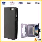 Оптовая продажа крышки сальто бумажника Croco материала iPhone 6 аргументы за