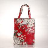 Sac à provisions floral rouge de deux de tailles rétro sacs à main de PVC de Britan (2293-2)