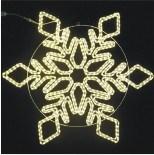 Decorações ao ar livre iluminadas Natal do motivo do floco de neve do Natal