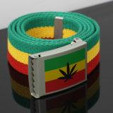 Courroie de toile automatique d'hommes de couturier de boucle de la Jamaïque de lames