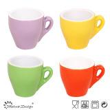Mini taza de café del tono del diseño dos