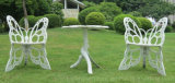 Présidence de loisirs de patio de stationnement avec des meubles de fonte d'aluminium de dos de guindineau et de Tableau de jardin