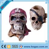 Heißester Holloween Schreckens-Schädel-Kopf-Form-Aschenbecher