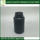 bottiglia di plastica della medicina del PE nero di colore 120ml