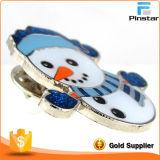 クリスマスのスノーマンの休日のブローチの折りえりPin