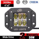 Luces del montaje LED del rubor de los parachoques (30W, 3X3X3inch, conduciendo la viga, IP68 impermeabilizan)