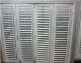 Topbright White Wood Louvered Shutter Windows para promoção