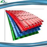 Hoja de acero prepintada acanalada del material para techos para África