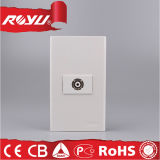 1 socket eléctrico del socket TV del teléfono de la pared de la cuadrilla
