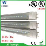24 indicatori luminosi fluorescenti chiari del tubo della lampadina dell'UL LED del rimontaggio del tubo 45W del piede T8 LED di watt 4