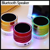 LED Light Mini pequeno sem fio Bluetooth Metal Handsfree Speaker
