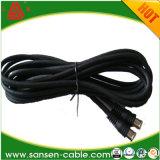 Rg59/RG6 siamesisches Rg59/RG6 mit Koaxialkabel des Energien-Kabel-Rg59/RG6 für Sicherheits-Kabel der Kamera-Link/CCTV