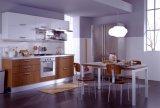 Cabinet de cuisine moderne assemblé par individu en bois plein Pr-K4080