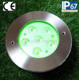 luz de alumínio Tricolor do diodo emissor de luz de 18W Inground (JP82666)