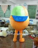 Costume della mascotte del Arancione-Carattere personalizzato per usura