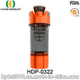 600ml vendent la bouteille en plastique de dispositif trembleur de protéine, la cuvette en plastique libre de cyclone de BPA pp (HDP-0322)