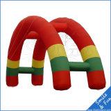 Arco inflável colorido do arco-íris da alta qualidade grande para anunciar
