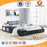 Удобные кровати спальни двойника ткани деревянной рамки (UL-FT812A)