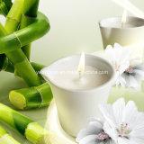 Velas orgánicas puras del masaje de la cera de la soja del bambú y del jazmín