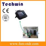 Techwin 상표 소형 광케이블과 안테나 해석기 장비