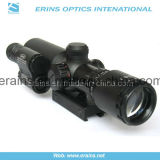 1.5-5X32 compatto Rifle Scope Red Green Mil-DOT Reticle con il laser Sight di Attached Green