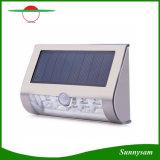 9 LED Solar Powered PIR sensor de movimiento de pared de luz impermeable IP44 Iluminación al aire libre Inalámbrico de acero inoxidable lámpara de acero