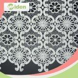 Milchiges Polyester-chemisches Spitze-Gewebe des Spitze-Kleid-Entwurfs-100%