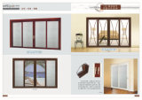 Alumínio/alumínio do padrão europeu de Fuxuan que desliza a porta interior