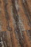 8.3mm E0 AC4 Vinyl Embossed Hickory Parquet V-Grooved Walnut Laminate Flooring