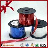 Bande s'enroulante du polyester 500yds décoratif du rouge 5mm de Noël