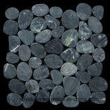 Mattonelle di pietra affettate il nero