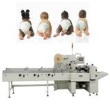 Servo pañales del bebé del embalaje de la máquina