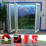 PVCスライドガラスの折れ戸、プラスチックBifoldドア