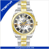 Hommes imperméables à l'eau de montres-bracelet d'acier inoxydable de modèle de mode de qualité