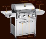 Gril extérieur en gros 5burners de gaz de BBQ de cuisine