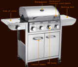 Großhandelsim freienküche BBQ-Gas-Gitter 5burners