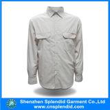 2017 chemises des affaires des hommes blancs de coton de la plus défunte qualité élégante