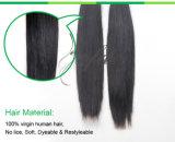 100%の加工されていないバージンの毛のRemyの人間の毛髪の拡張