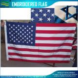 폴리에스테 직물 3X5FT 미국 수를 놓은 깃발 (M-NF16F05001)