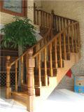 Acier moderne de mode et escalier spiralé en bois