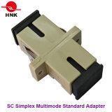 Adaptador óptico plástico estándar a una cara de fibra del Sc