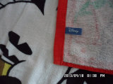 100%年の綿のベロアの反応プリント動物のビーチタオル