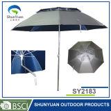 新しいデザイン大きい浜の保護釣(SY2183)のための屋外の二重傾きの傘
