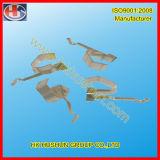 Präzisions-Metallnickel überzogener elektrischer Kontakt und Messing-Schienen-Kontakt (HS-BC-010)