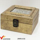 Boîte à bijoux en or antique avec photo