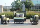 Комплект софы ротанга PE мебели Foshan напольный