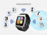 Bluetooth 4.0 Syn Call SMS Phone Book Heart Rate Pulse Monitor Smart Watch Phone für iPhone IOS Android