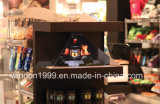 Showcase holográfico da pirâmide do holograma do caso de indicador para anunciar